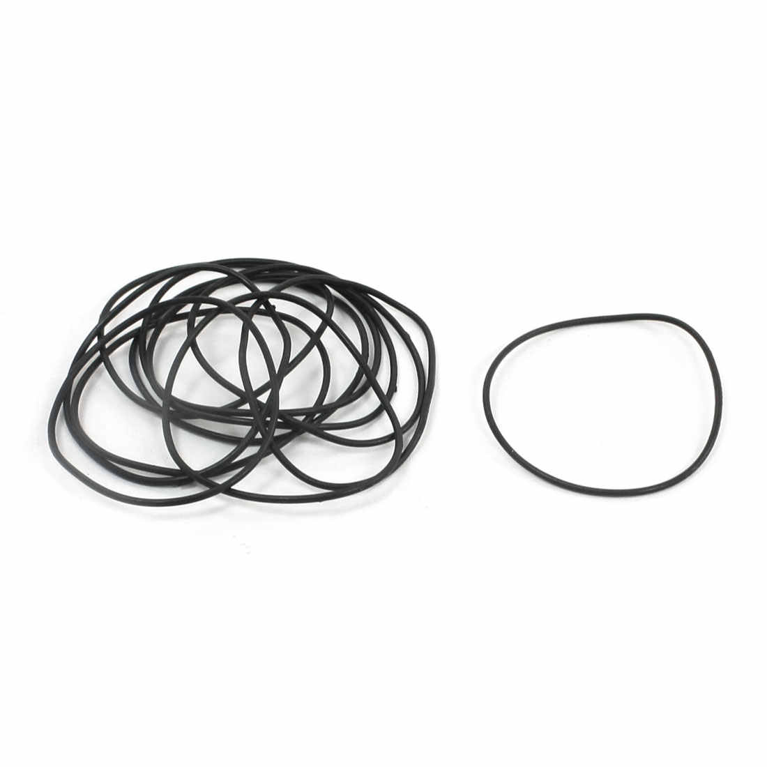 Uxcell 10Pcs/lot 1mm Cross Section Industrial Rubber O Rings Seals Id 31mm 32mm 33mm 36mm 38mm 41mm 44mm