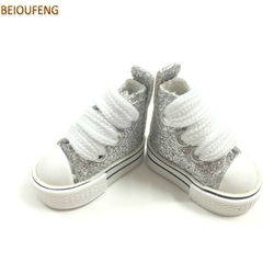 BEIOUFENG Mini 3.5 CM Toy Boots Casual Sneakers Shoes for Blythe Dolls,1/8 BJD Doll Shoes Gym Shoes for Dolls Accessories 2 Pair