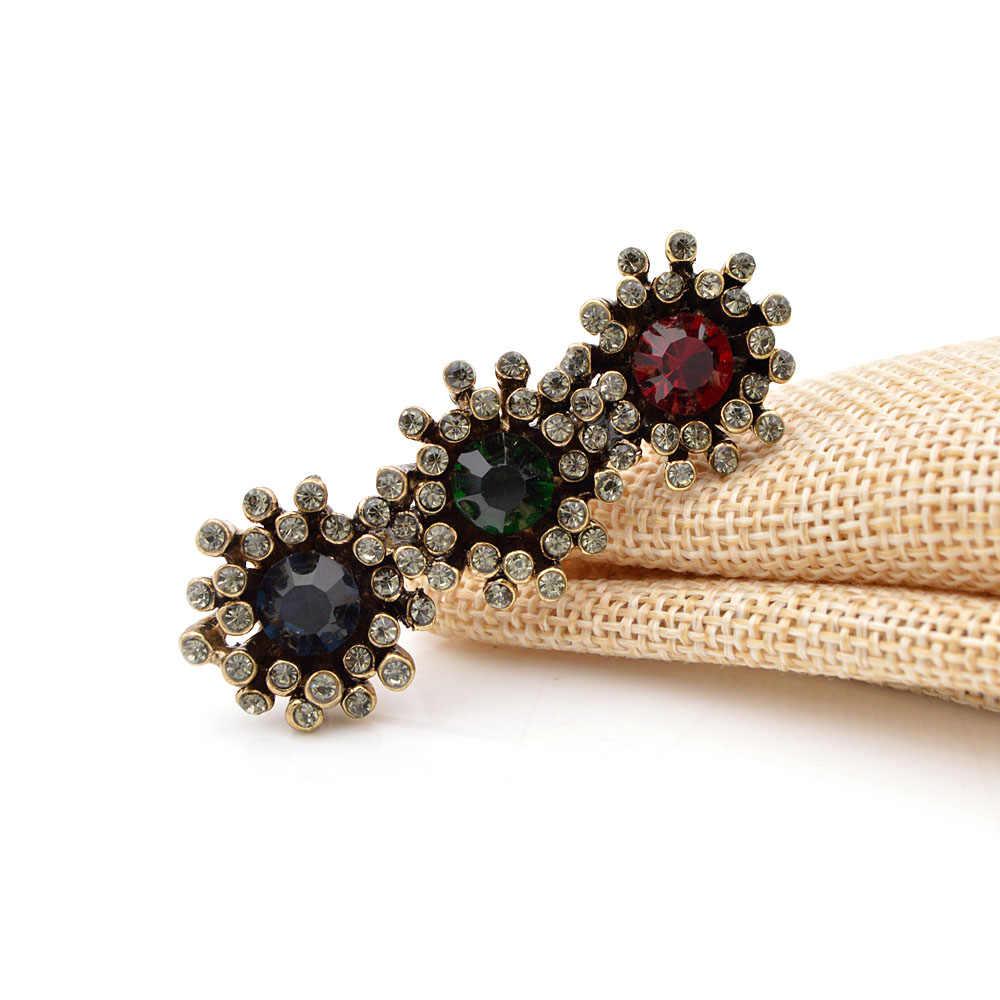 Muda Tulip Kreatif Berlian Imitasi Warna Bunga Bros untuk Wanita Sweater Aksesoris Vintage Perhiasan Hadiah Pin 2018 Hot Sale