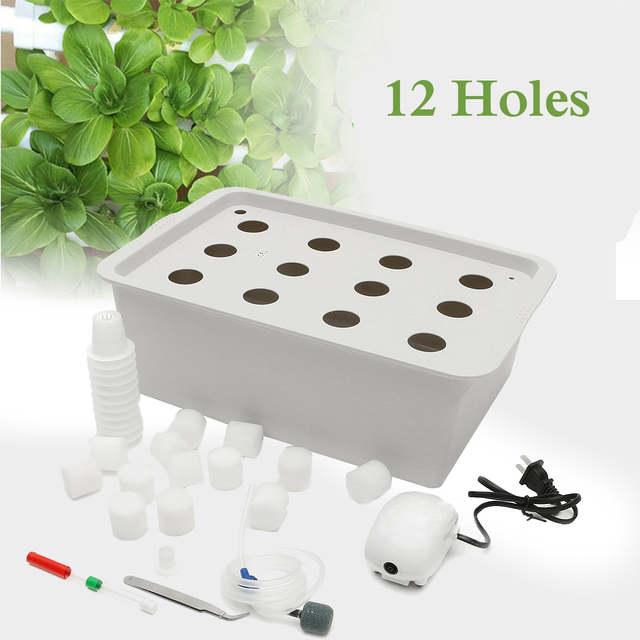 Online Shop 12 Holes Plant Site Hydroponic Garden Pots Planters