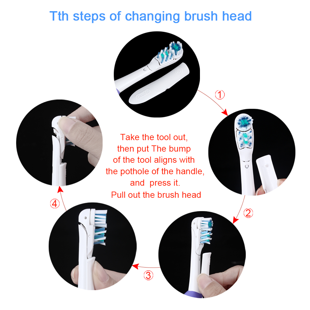 Oral B Cross Action Electric Toothbrush Dual Clean Teeth Whitening No-Rechargeable Sonic Tooth Brush Soft Teeth Brush For Adult