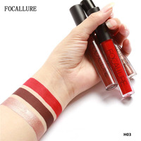 FOCALLURE 3Pcs Set Lipgloss Long Lasting Lip Colors Makeup Waterproof Tint Lip Gloss Matte Lipstick