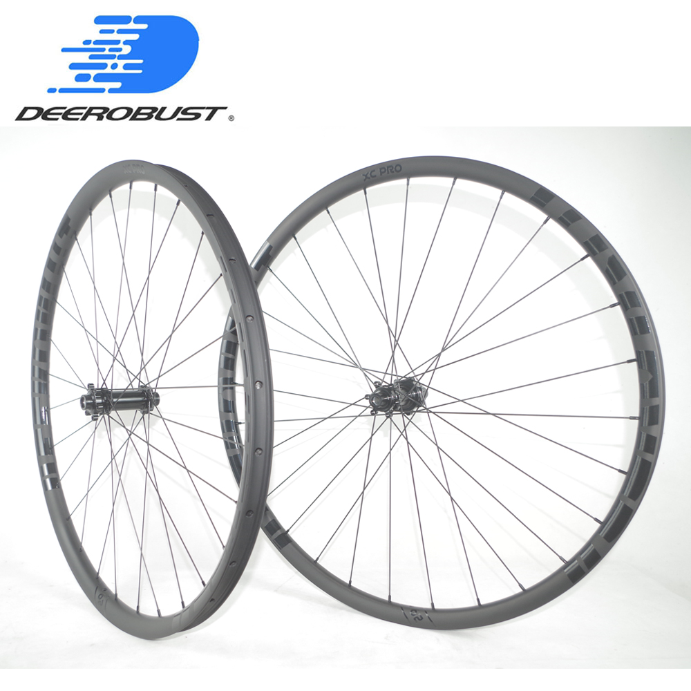 1249g 29er carbon BOOST wheels 30mmm tubeless 24mm deep straight pull 29in MTB XC wheelset 110mm 110 12X148 15X100 12X100 12X142