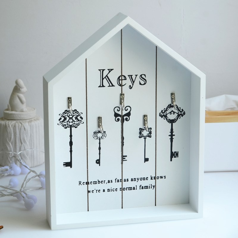 Well-liked ZAKAK Style Wooden Handmade Keys Organizer Wall Hanging Jewelry  JJ35