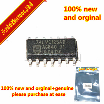 1pcs 100% new and orginal free shipping 74LVC125AD SOP14 Quad buffer/line driver with 5-volt tolerant inputs/outputs 3- in stock image