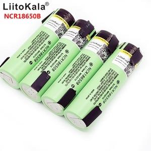 Hot liitokala 18650 3400 Battery 3400mAh 3.7V NCR18650B Rechargeable Li-ion Battery for Flashlight for +DIY nickel