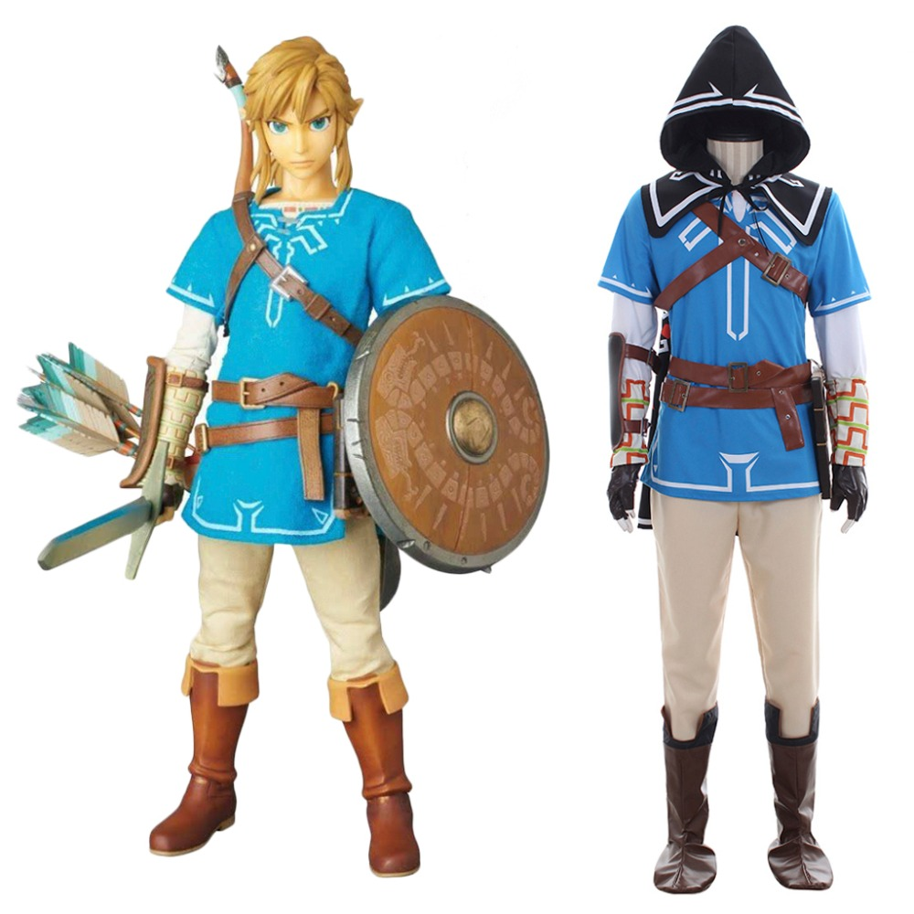 The Legend of Zelda Breath of the Wild Link Cosplay Costume Battle Outfit Suit Men Adult Halloween Carnival Costume Custom Made