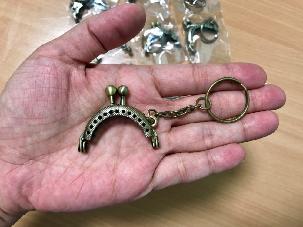 10Pcs High Quality Antique Bronze Tone Vintage Clutch Coins Purse Metal Arc Frame Kiss Clasp Key Ring Handbag Handle 4.2×3.5cm photo review