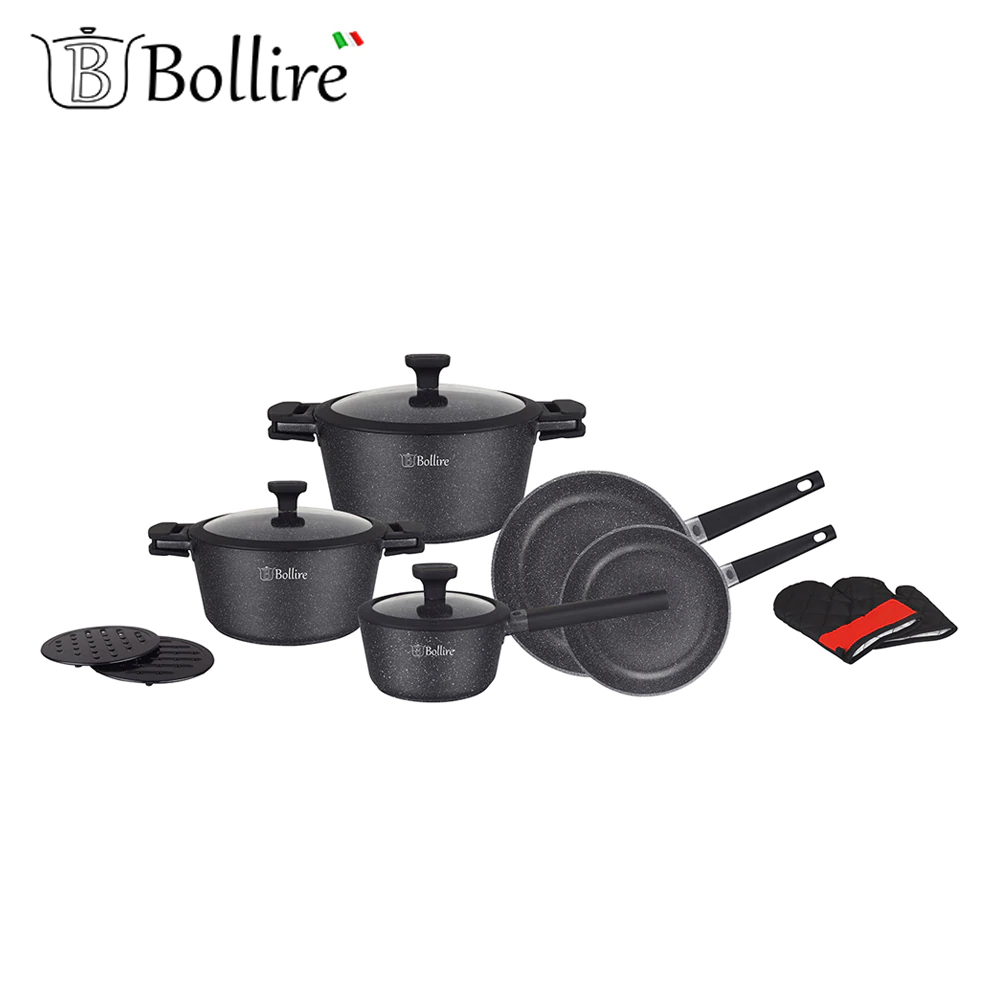 Cookware Sets BOLLIRE BR-1320 set of pans stainless steel pan everything for the kitchen stylish cross stainless steel pendant necklace for women