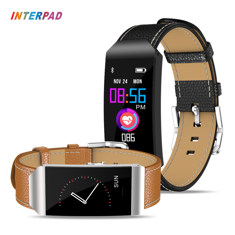Nova Interpad s7 Rastreador De Fitness Inteligente Pulseira Inteligente Pulseira Colorida 0.96 OLED Com Freqüência Cardíaca Para Android iOS Telefone