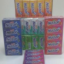 Nazar sugarless жевательная резинка, без сахара, 6 вкусов 100 шт, вкусный вкус
