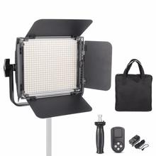 Fotopal ES600D CRI95+ 600 PCS Bulb 36W Daylight Dimmable Led Video Continuous Light Aluminum Panel 99 Channels Remote Control