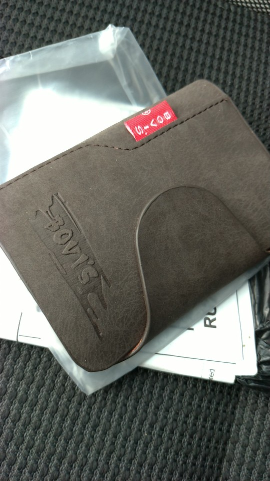KUDIAN BEAR Genuine Leather Business Cards Holder Credit Card Cover Bags Hasp Card Organizer Bags -- BIH003 PM20 photo review