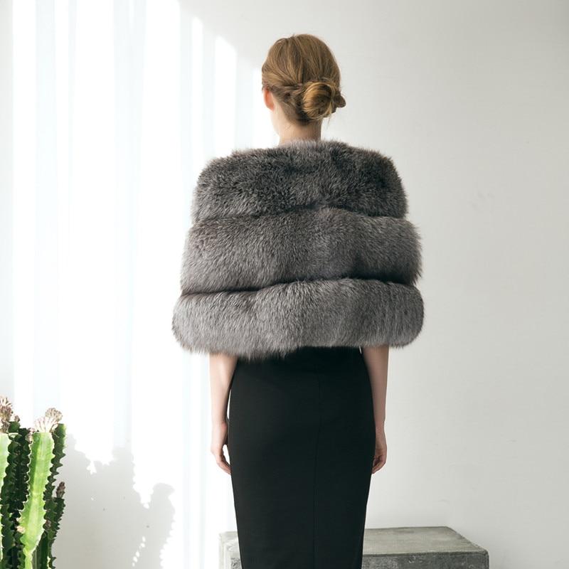 2017 Chaud Imitation Manteau Châle Femmes Ardoisé Fausse Hiver P0066 Épais Femme Vêtements En De Veste Mariage Partie Fourrure Noble Vintage YzrYq60w