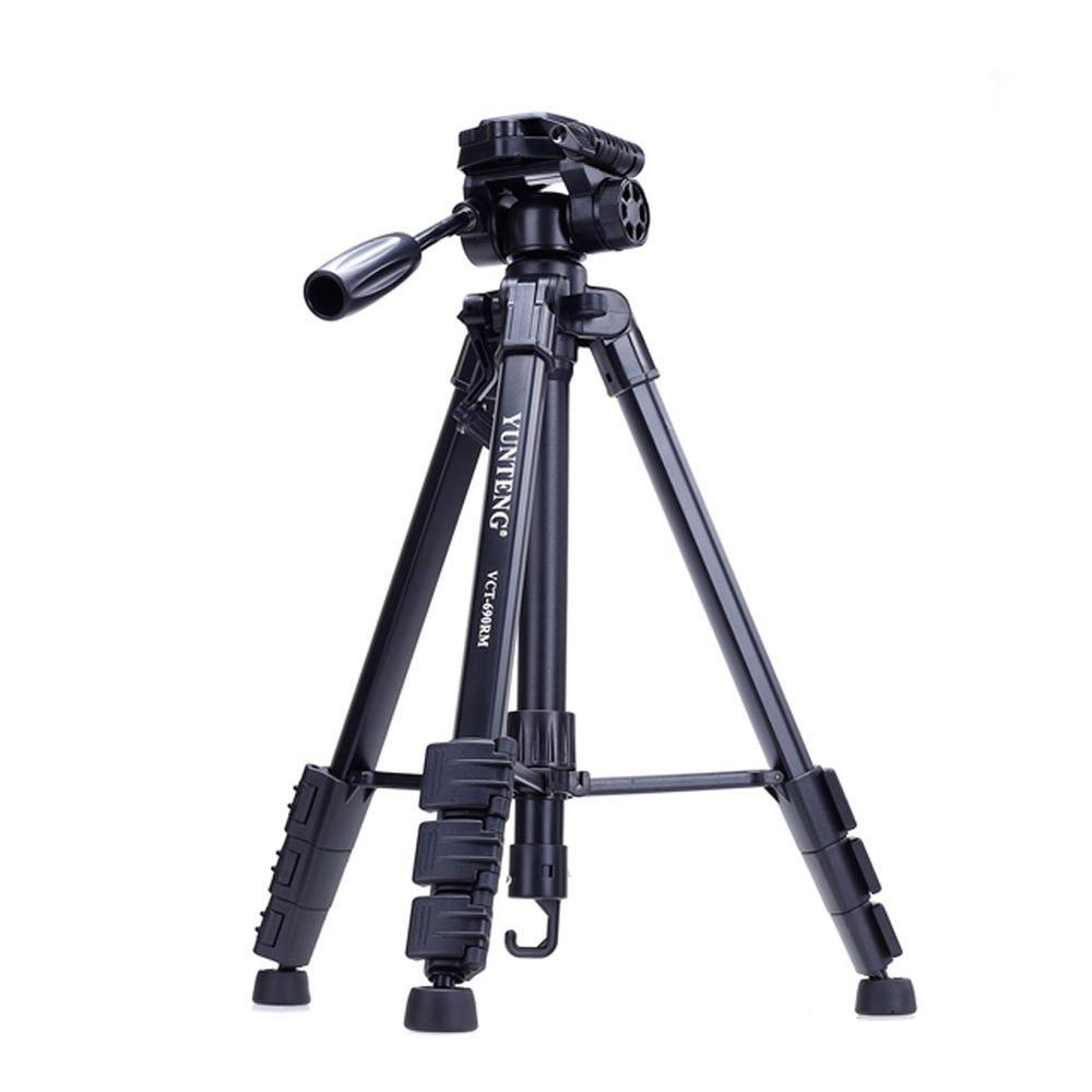 Yunteng 690 Professional Tripod Video Stable Desktop Ball Head For IPhone Samsung Smartphone Canon DSLR Camera Cell Phone Stand