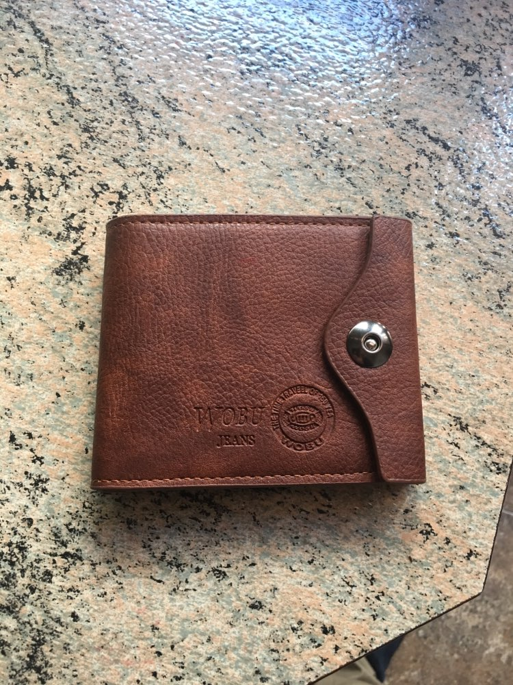 2019 New PU Men's Wallet Multifunctional Short Design Men Wallet Hasp Coin Purse Card Holder photo review