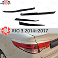 Брови Для Kia Rio 3 2014-2017 для задних фонарей реснички пластиковые ABS молдинги Декоративные Накладки для стайлинга автомобиля