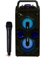 Karaoke Speaker with Wireless Bluetooth Microphone Portable FM Radio USB TF Card Rechargeable with Remote
