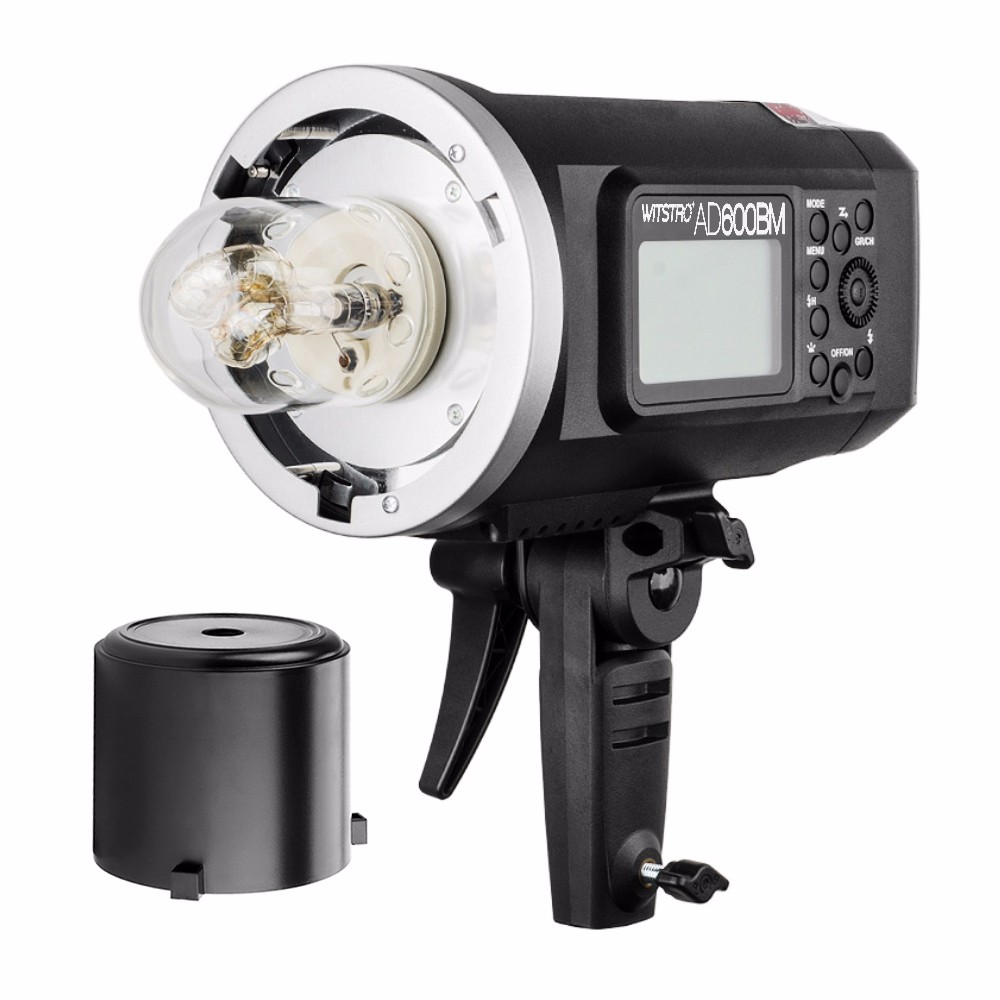 Godox AD600BM 2.4G HSS Portable Studio Flash Strobe Bowens Mount AD-H600 Kits,for Canon Nikon Camera + bag + suitcase + battery