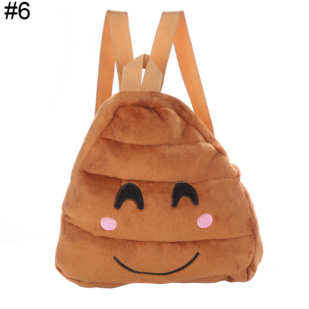 Cute Kid Children Backpack Kindergarten Schoolbag Cartoon Expression Plush Bag ...
