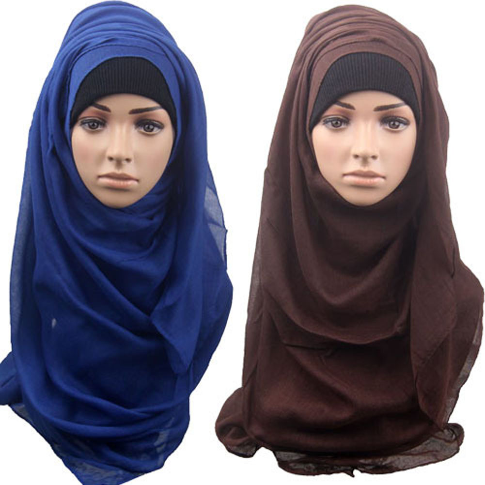 10Colors  Full Cover Inner Muslim Cotton Hijab Cap Islamic Head Wear Hat Underscarf  High Quality