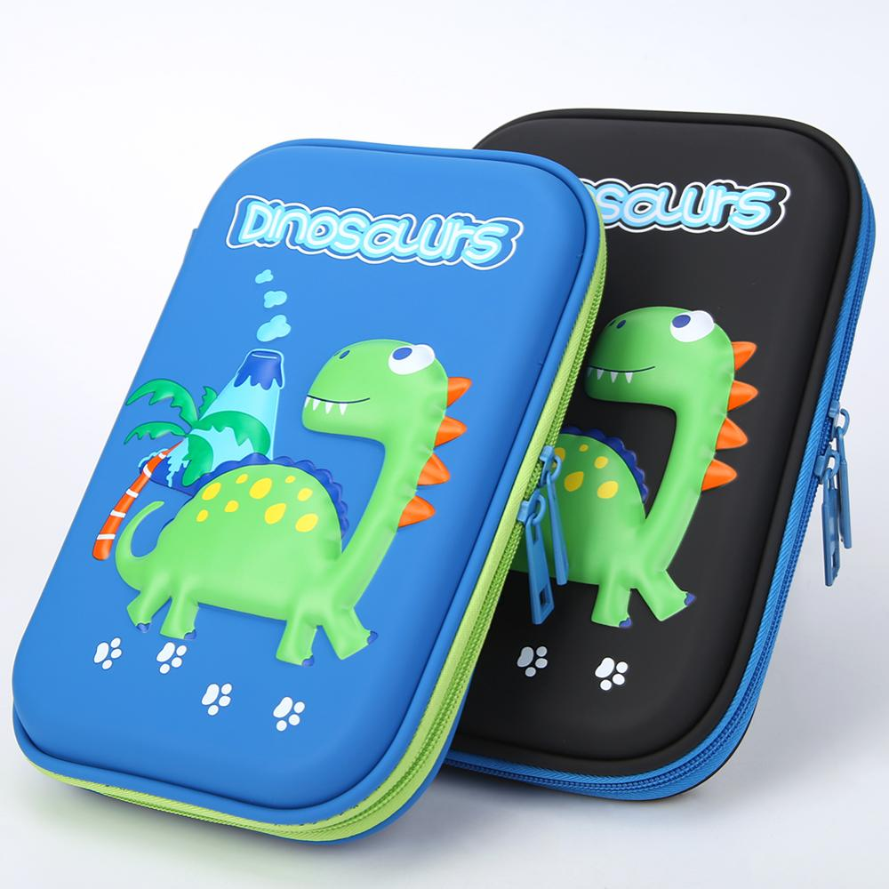 Cartoon Dinosaur EVA Pencil Box New Large Capacity Pencil Bag School Stationery Lovely Pencil Bag For Students Children Boy Girl
