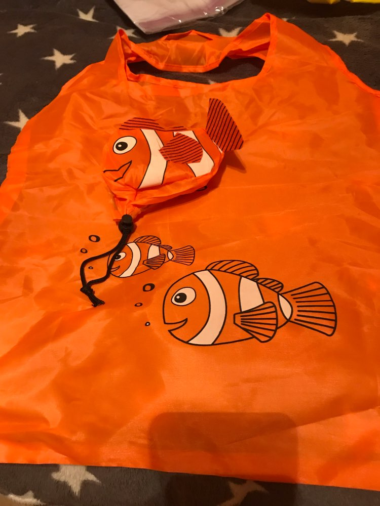 7 Colors Tropical Fish Foldable Eco Reusable Shopping Bags Reusable Tote Pouch Recycle Storage Handbags 38cm x58cm photo review