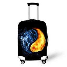 цена на Chinese style print on suitcase luggage travel luggage protective cover anti-dust trolley cover for 18 to 30 inch bag