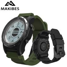 """1 שנה אחריות Makibes BR2 גברים GPS S966 ספורט שעון Bluetooth טיולים מד מהירות אק""""ג HR רב ספורט כושר tracker חכם שעון"""