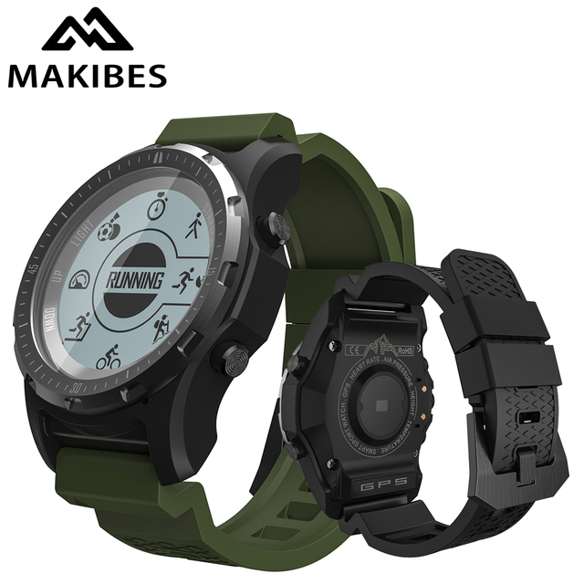 1 Year Warranty Makibes BR2 Men GPS S966 Sport Watch Bluetooth HIKING Speedometer ECG HR Multi sport fitness tracker Smart Watch