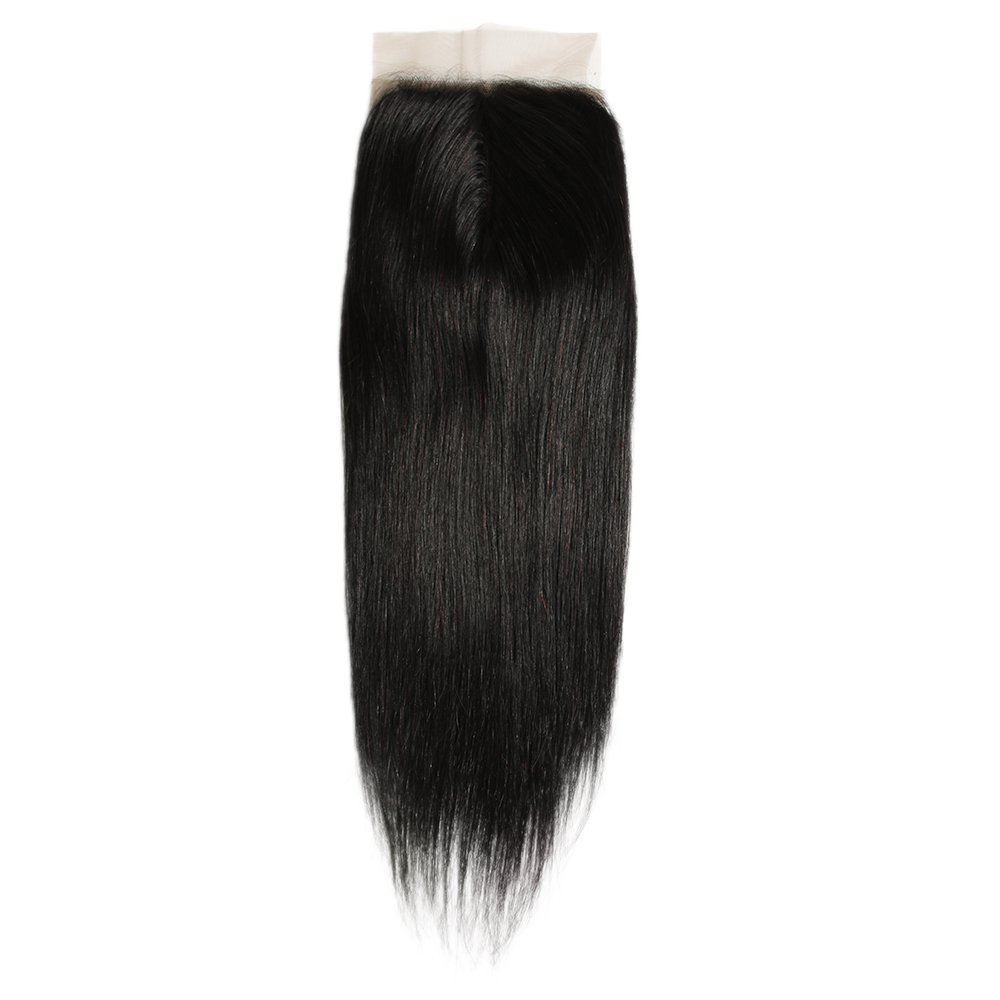 Joedir Hair 5*6 Brazilian Straight Hair Lace Closure Pre Plucked With Baby Hair T Part Remy Human Hair 10 20 Inch Natural Color