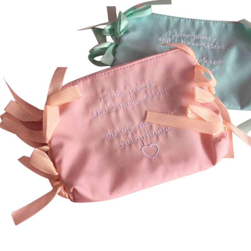 все цены на 1 Pc Portable Cute Ribbon Oxford Cloth Multifunction Zipper Document Envelope Cosmetic Bag Data Case School Supplies Stationery онлайн