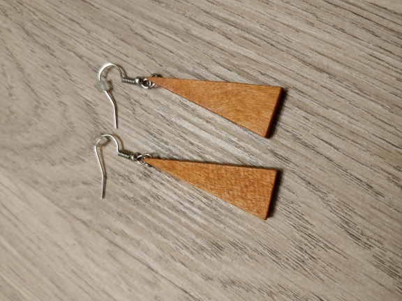 12 Style Wooden Long Geometric Copper Earrings photo review