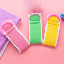 Фотография Soft Back Strap Exfoliating Body Bath Shower Towel Sponge Brush Scrubber