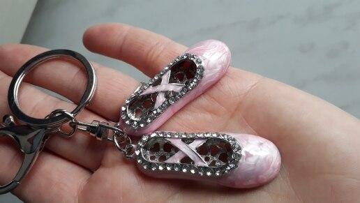 Bag Pendant Ballet Shoe Diamante Crystal Ballet Mini Girl Fashion Diamond-encrusted Gift KeyChain Women Wallet Handbag Schoolbag photo review