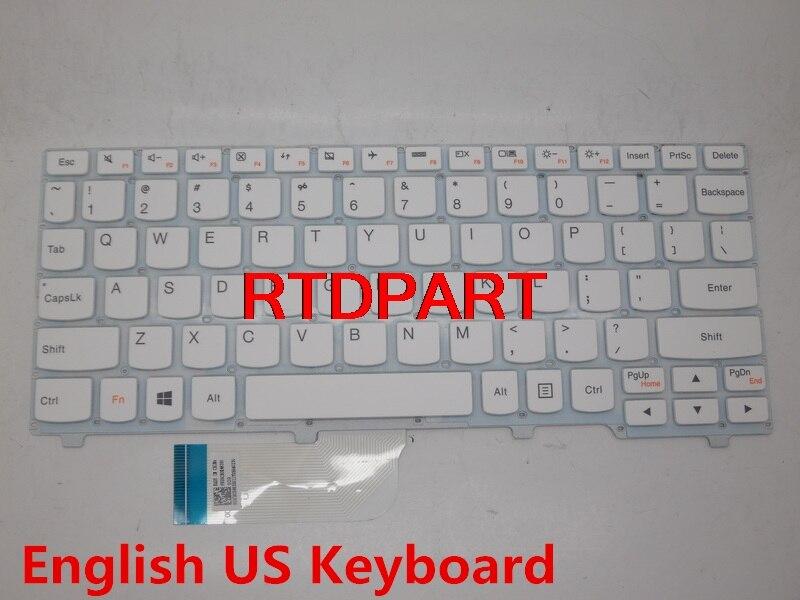 Laptop Keyboard For LENOVO Ideapad 100S-11IBY English US Layout White Without Frame 5CB0K48350 Palmrest  laptop keyboard for lg a540 a550 a560 a560 svc a560 t black without frame us english aeqlgu1010 2b 04401q110