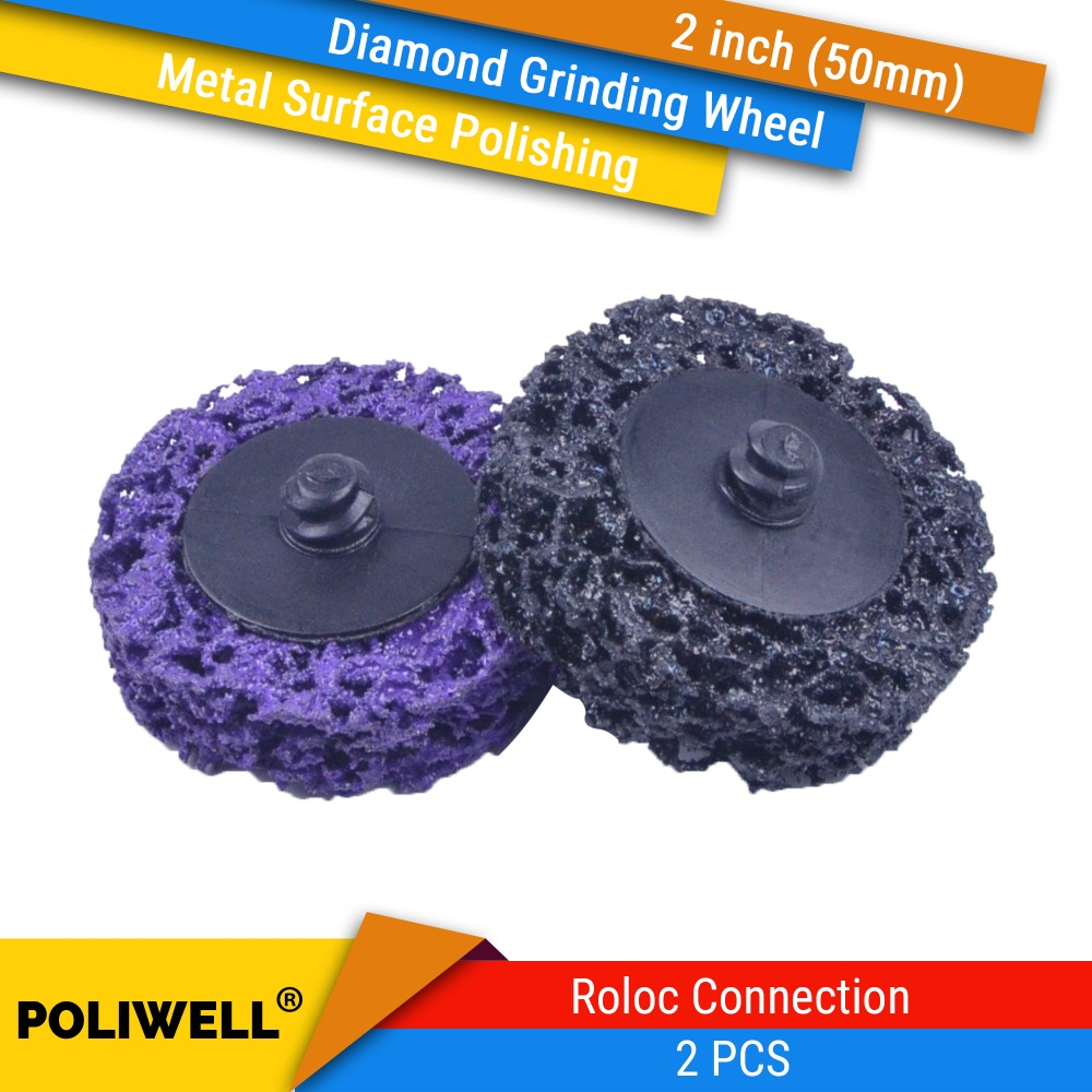 2 Inch(50mm) Roll Lock Type R Sanding Discs Diamond Grinding Wheels Surface Polishing Corrosion Removal Discs For Metalworking