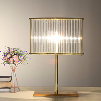 Modern transparent crystal wrought iron Table Lamps European fashion personality model room creative room living room bedside