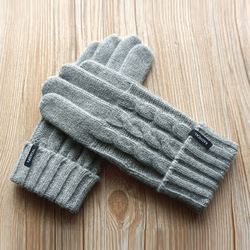 New Business Men Gloves Fashion Winter Male Knitted Thicken Wool Gloves Touch Outdoor Autumn Warm Driving Gloves Free Shipping