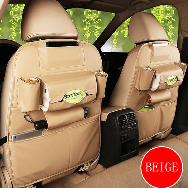 Best quality car seat storage bag creative car organizer car seat cover Multifunctional seat back bag dirt-resistant easy clean