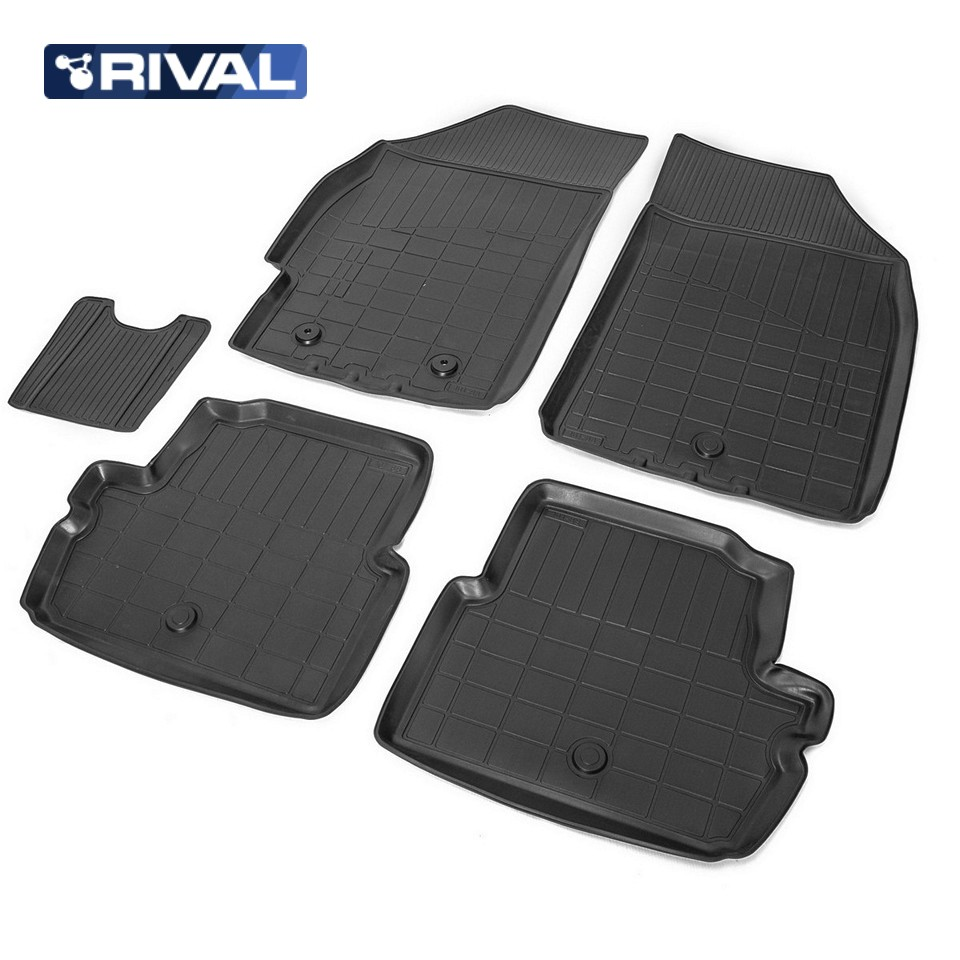 For Chevrolet Spark III 2012-2015 floor mats into saloon 5 pcs/set Rival 11006001 full set cables for digiprog iii odometer programmer