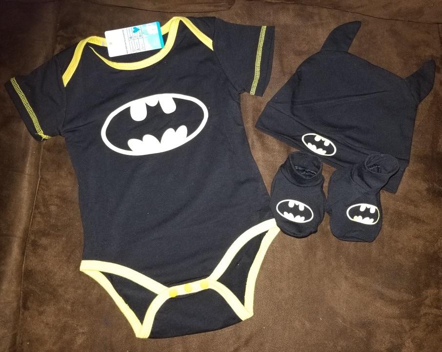 25cb726af 53 reviews for Baby Boys Cool Batman Newborn/Infant 3pcs Outfits Set (Romper +Shoes+Hat)