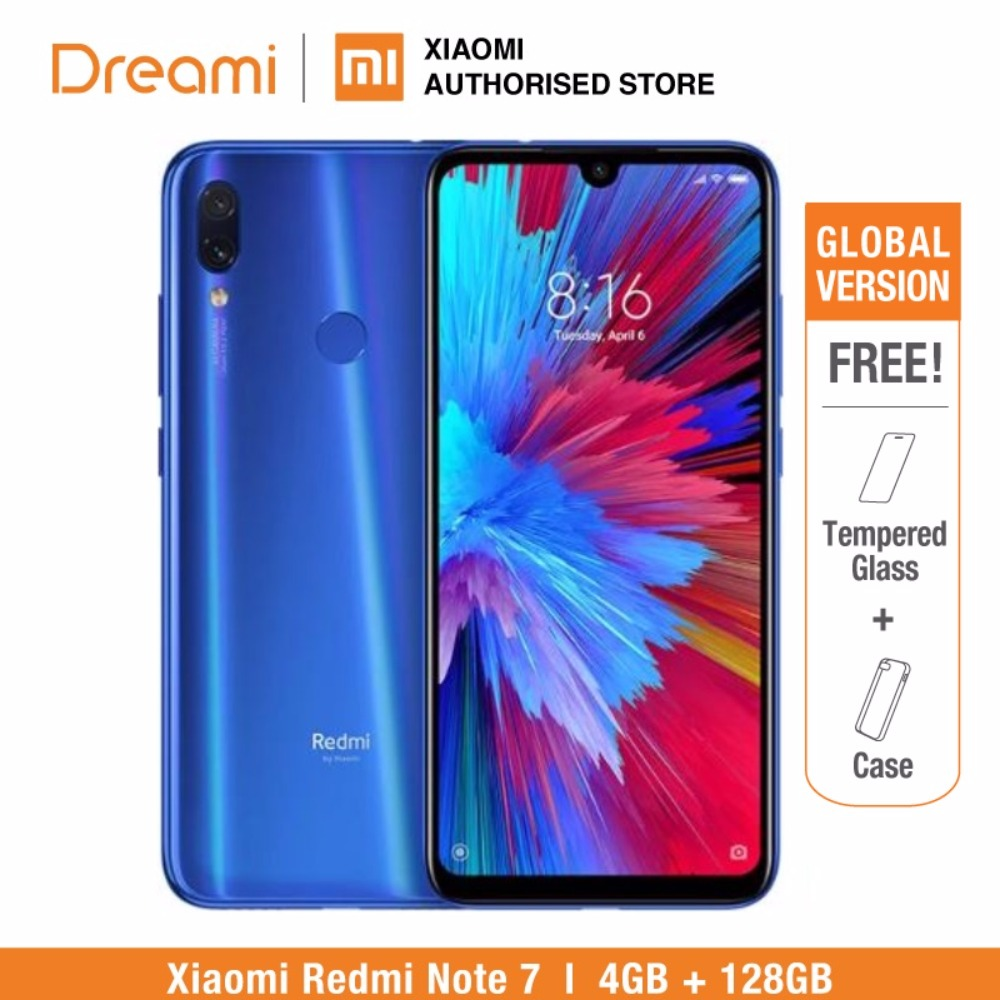 Global Version Redmi Note 7 128GB ROM 4GB RAM (Brand New and Sealed Box) OFFICIAL Rom, note7 128gb