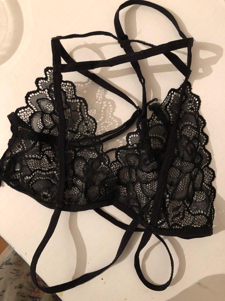 2018 Women Sexy Lace Bra Set Transparent Across Bra High Waist G-string Underwear Suit Women Lingerie Set Thin Bralette Panties