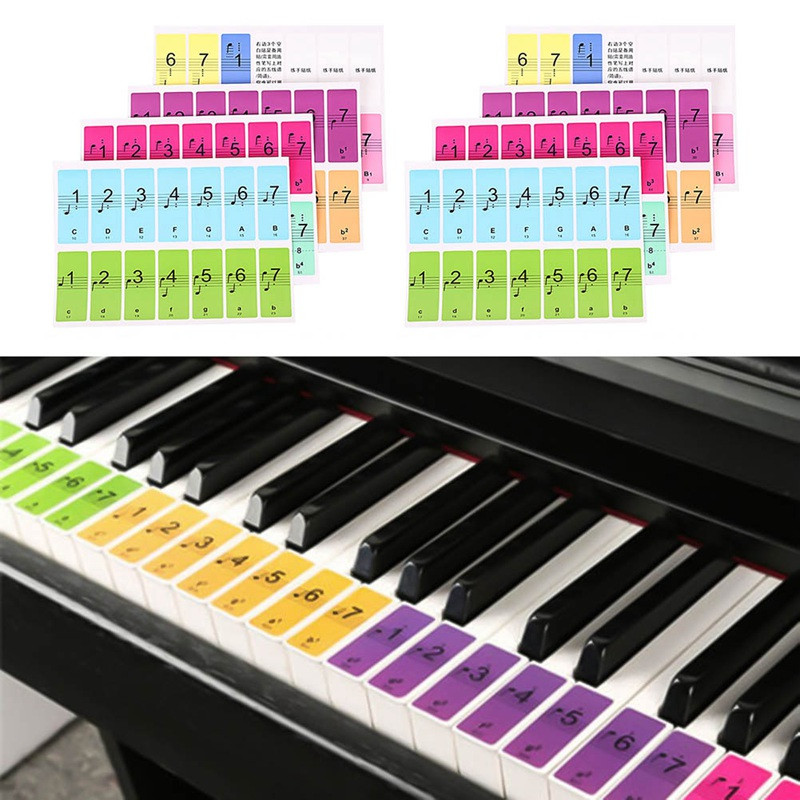 51 61 88 Keys Piano Sticker Colorful Music Decal Label Note Sticker font b Electronic b