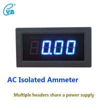 YB5135BI AC Isolado Atual Amperímetro Medidor de Três Anos e Meio Tester AC LEVOU Display Digital Amperímetro Atual Metros Amp Azul palavras