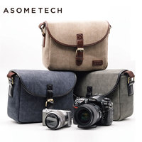 ASOMETECH DSLR Camera Bag Backpack Digital Gear Bags Waterproof Shockproof Breathable Wear For Nikon D3200 D3100