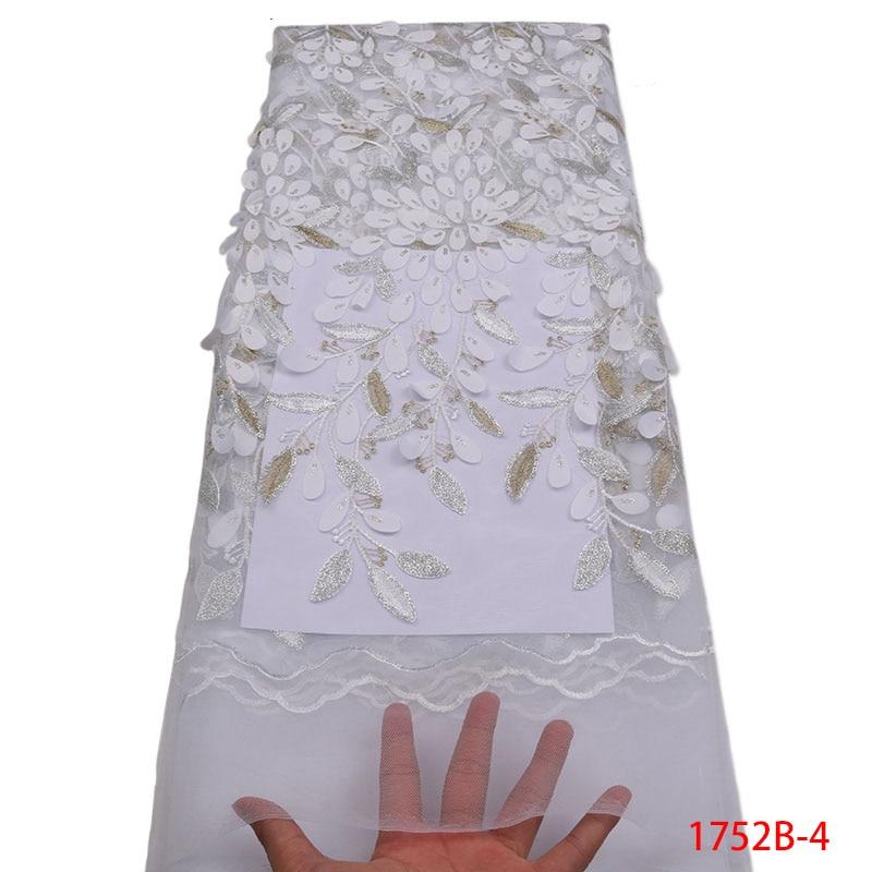 Ev ve Bahçe'ten Dantel'de 2018 Fransız Dantel Kumaş Beyaz Düğün Yüksek Kalite Afrika Tül Dantel Kumaş 5 Yard 3D Çiçekler Işlemeli Tül Dantel fabric1752B'da  Grup 1