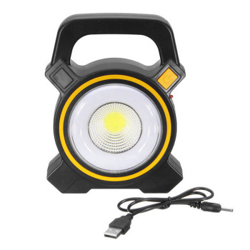 50W Solar Power LED COB Flood Light USB Rechargeable Portable Lanterns Outdoor Working Spot Light Camping Hiking Flashlight Lamp 1