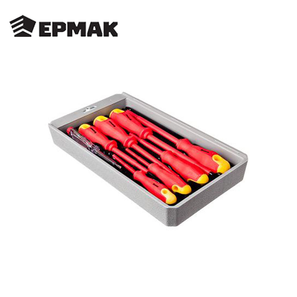 ERMAK SCREWDRIVER SET High Quality Hand Tool For The Job Multi-function Rubber Handle Dielectric Tool Set Free Shipping  651-070